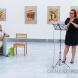 Andrásy Tibor grafikusművész kiállításának megnyitója a Csallóközi Múzeumban